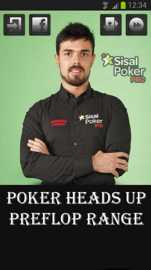 Poker heads Up PreFlop Range - screenshot