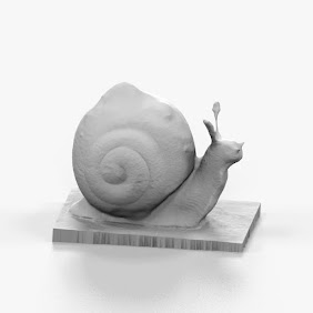 Artistic Red Snail SCulpture 3D Print