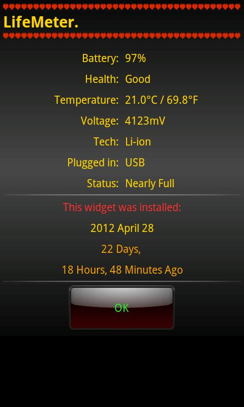 LifeMeter- screenshot