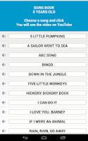 Screenshot of Song Book