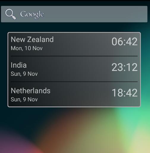 3 Zone World Clock