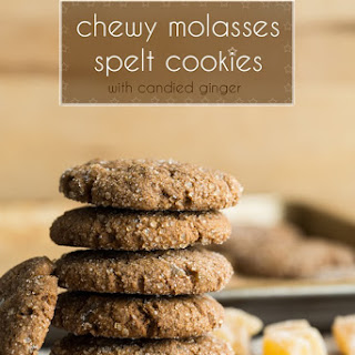 Chewy Molasses Spelt Cookies.
