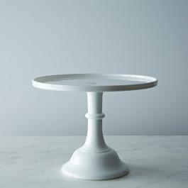 Cake Plate - Milk Glass
