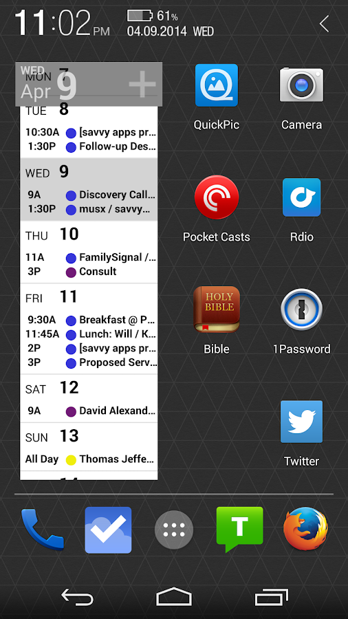 Agenda Calendar - screenshot