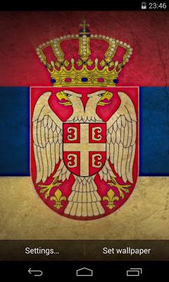 Flag of Serbia Live Wallpaper - screenshot