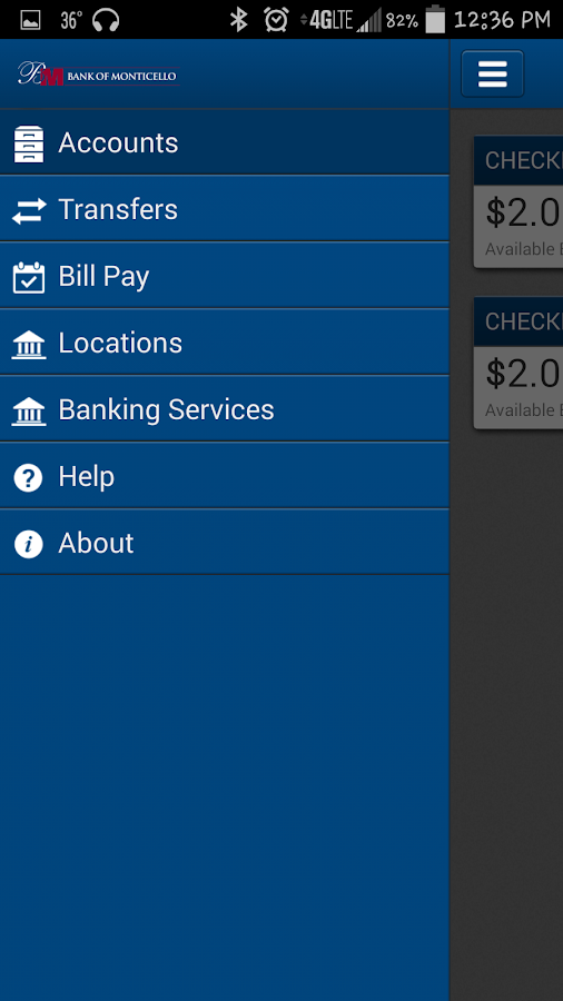 Bank of Monticello, MO- screenshot