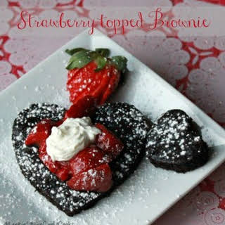 Strawberry Topped Brownies.