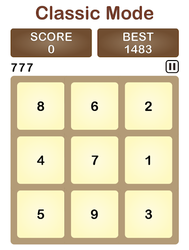 Seven++ number puzzle game