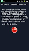 Screenshot of Backuptrans SMS Sync