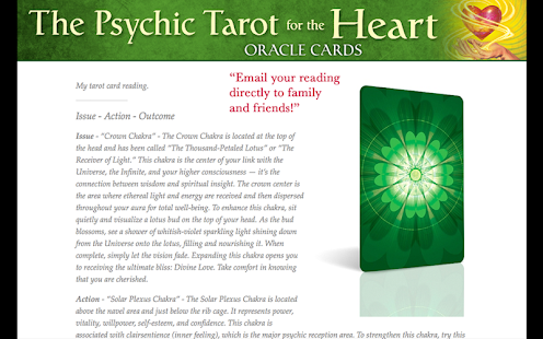 Psychic Tarot for the Heart- screenshot thumbnail
