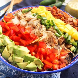 Caribbean Cobb Salad with Fire-Roasted Pineapple Vinaigrette.
