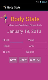 Body Stats - Women- screenshot thumbnail