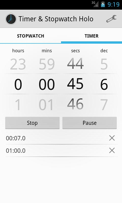 Timer & Stopwatch Holo - screenshot