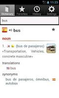 Screenshot of Free English Spanish Dict.