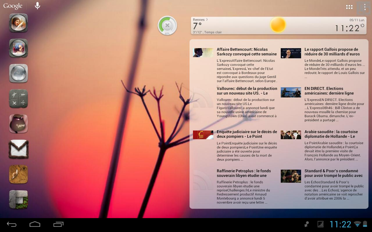 Scrollable News Widget - screenshot