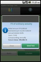 Screenshot of Savings Calculator