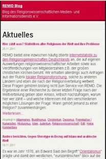 Religionswissenschaft REMID- screenshot thumbnail