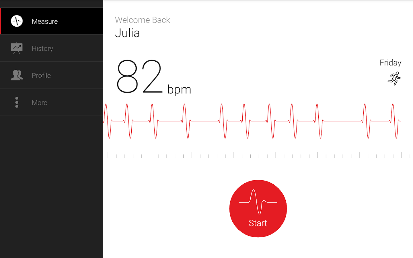 Cardiograph - Heart Rate Meter- screenshot