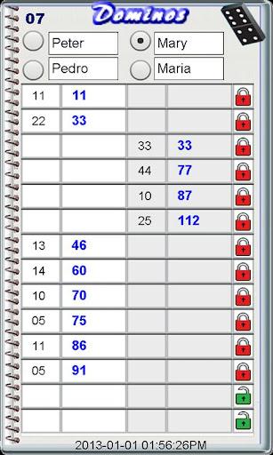 Dominos ScorePad