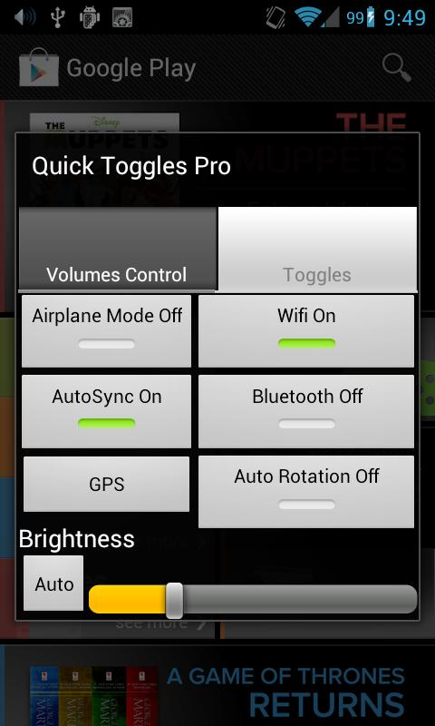 Quick Toggles Pro - screenshot