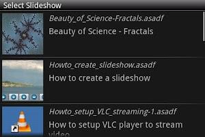 Screenshot of SlideShow Application