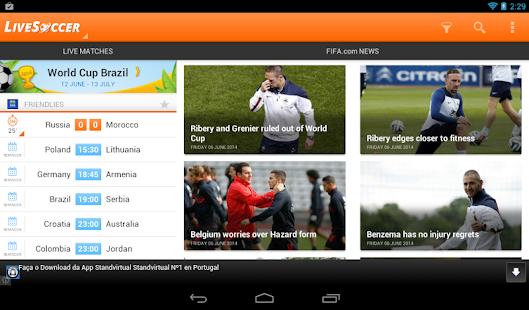 LiveSoccer -  live scores - screenshot thumbnail