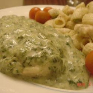 Chicken Breast with Cream of Spinach Sauce Recipe