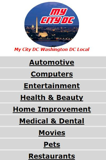 My City DC Washington DC Guide