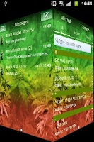 Screenshot of GO SMS Pro Theme Weed Ganja