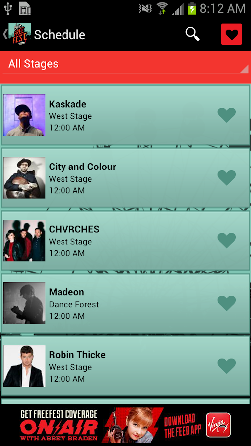 Virgin Mobile FreeFest - screenshot