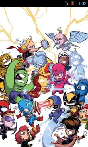 Coloring Book Super Heroes Kid