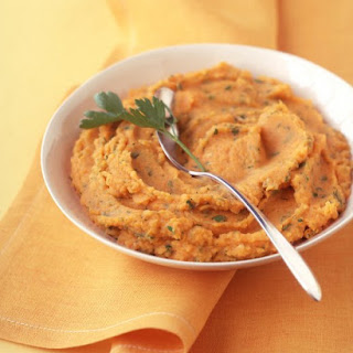 Mashed Sweet and Russet Potatoes with Herbs