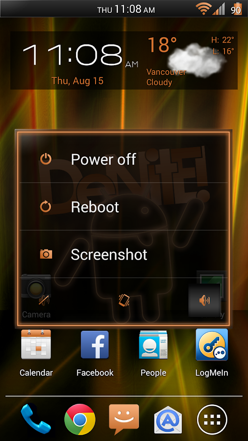 Laser Orange CM11/AOKP Theme - screenshot