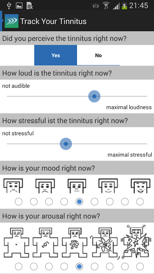 Track Your Tinnitus- screenshot