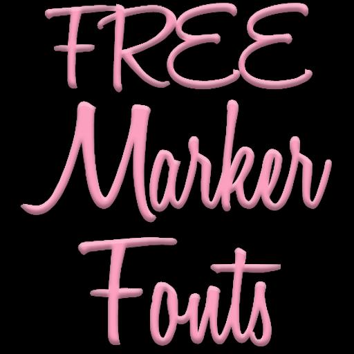 Marker Fonts for FlipFont free