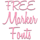 Marker Fonts for FlipFont free icon