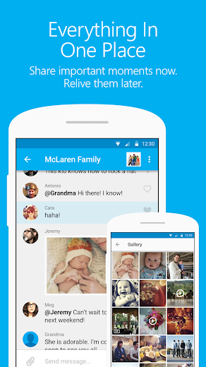 Screenshot 1 for GroupMe's Android app'