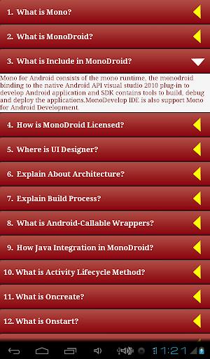 【免費教育App】MonoAndroid Q&A-APP點子