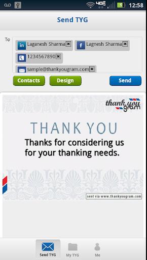 Saying Thank You -ThankYouGram