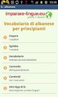 Screenshot of Imparare l'albanese