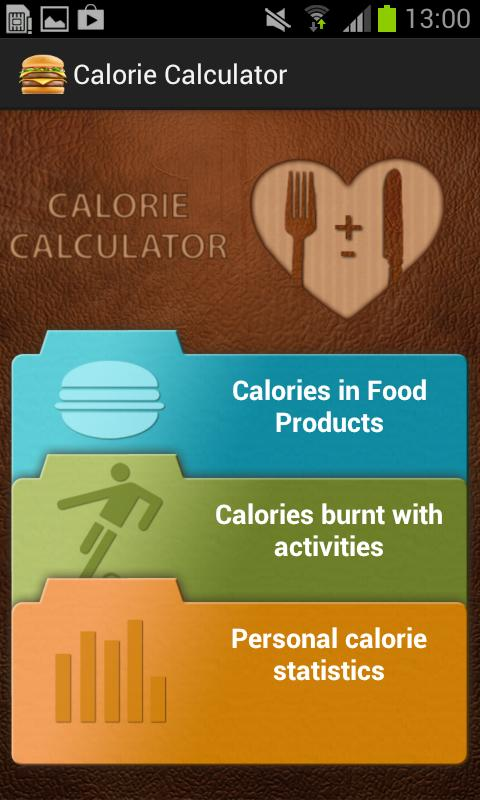 Calory Calculator free - screenshot