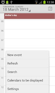 Calendar from Android 4.4- screenshot thumbnail