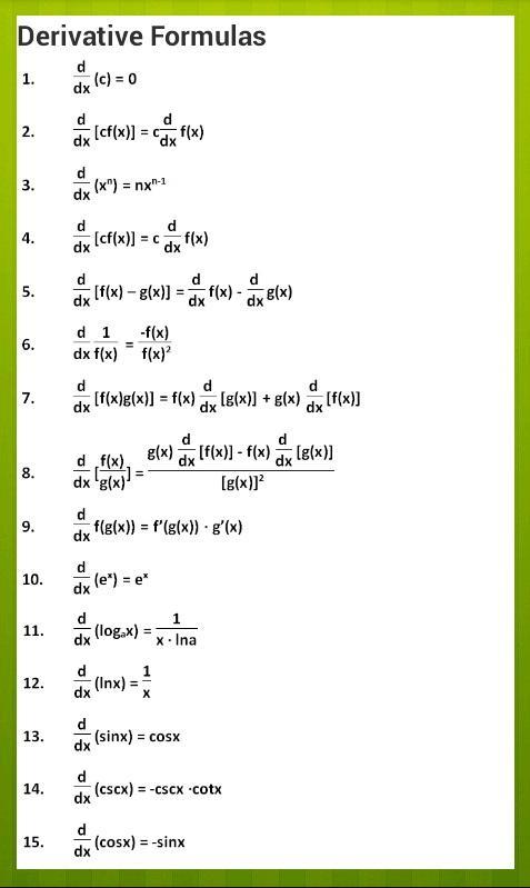 jgerlach calculus calc formulas