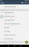 Screenshot of Shortyz Crosswords