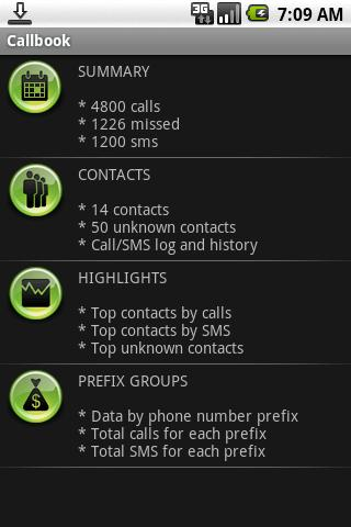 Callbook - screenshot
