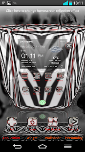 Next Launcher 3D Theme Zebra - screenshot thumbnail