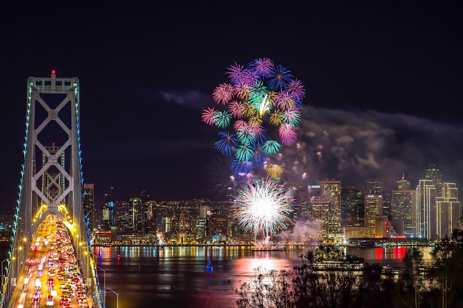 Fireworks by Eric Zhang - Public Holidays New Year's Eve (  )