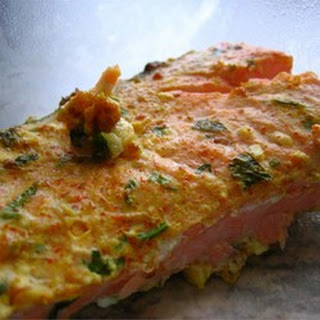 Yogurt-Marinated Salmon Fillets (Dahi Machhali Masaledar).