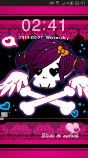 GO Locker Theme Pink Emo- screenshot thumbnail