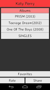 Katy Perry Lyrics screenshot